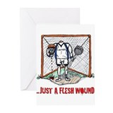 Lacrosse Goalie Fleshwound Greeting Cards (Pk of 1