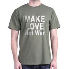 Make Love Not War (Front) Black T-Shirt