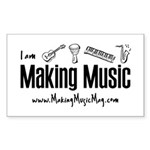 Making Music Sticker (Rectangle)