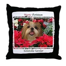 Samantha Shih Tzu Christmas Throw Pillow