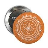 Orange Flower Doilie Button
