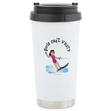 Light Water Skiing Ceramic Travel Mug