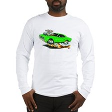 1970 Roadrunner Green Car Long Sleeve T-Shirt