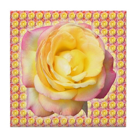 Peace Rose Tile Coaster