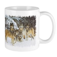 """Wolf Pack"" Small Mugs"