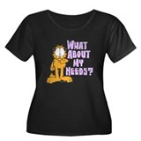 What About My Needs? Women's Plus Size Scoop Neck