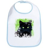 Black Cat & Snowflakes Bib