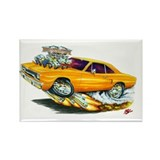 1970 Roadrunner Orange Car Rectangle Magnet