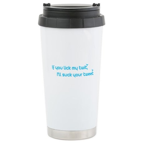 I'll Suck Your Tweet Ceramic Travel Mug