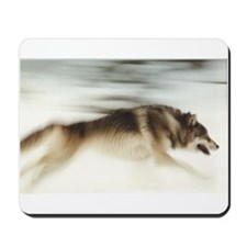 """Running Wolf"" Mousepad"