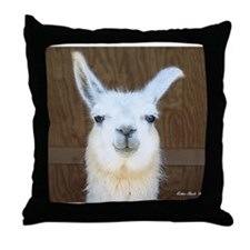 Cute Llama Throw Pillow