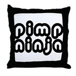 Pimp Ninja Throw Pillow