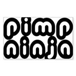 Pimp Ninja Rectangle Sticker 10 pk)