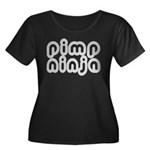 Pimp Ninja Women's Plus Size Scoop Neck Dark T-Shi