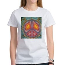 Colorful Tie Dye Peace Tee