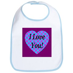 Heart of Hearts I Love You! Bib