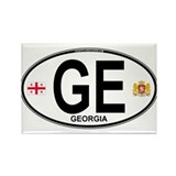 Georgia Euro Oval Rectangle Magnet