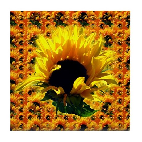 Sunflower Sunrise Tile Coaster
