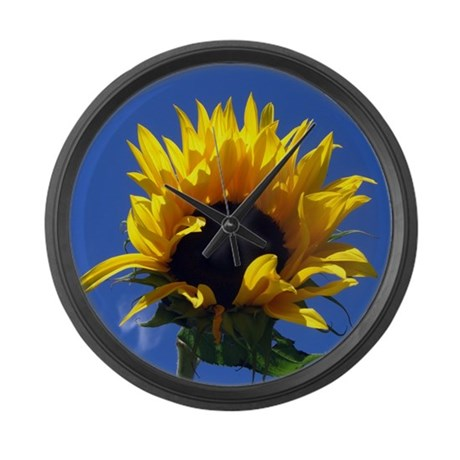 Sunflower Sunrise Large Wall Clock
