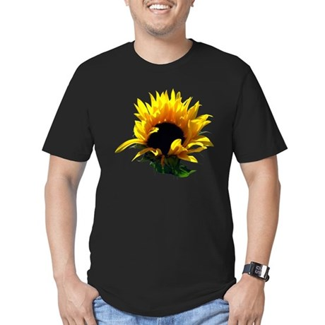 Sunflower Sunrise Men's Fitted T-Shirt (dark)