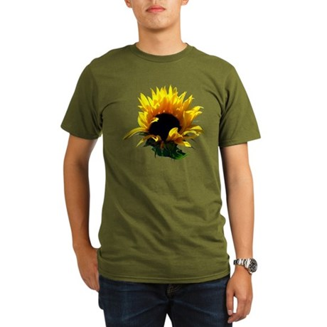 Sunflower Sunrise Organic Men's T-Shirt (dark)