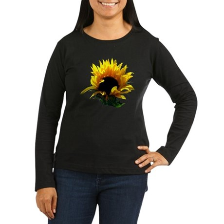 Sunflower Sunrise Women's Long Sleeve Dark T-Shirt