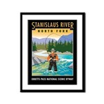 Fishing Framed Panel Print