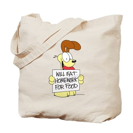 Odie Will Eat Homework Tote Bag