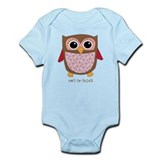Retro Owl in pink Infant Bodysuit