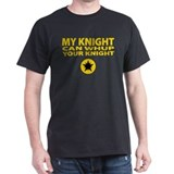 "Ansteorra ""My knight"" Black T-Shirt"