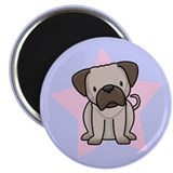 Star Kawaii Pug Magnet