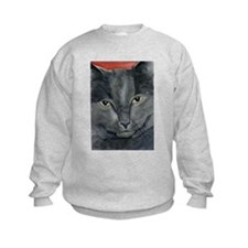 Russian Blue Cat Sweatshirt