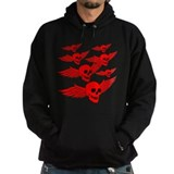 Red Flying Skulls  Hoodie