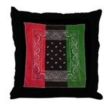RBG Bandanna Throw Pillow