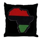 RBG Map of Afrika Throw Pillow