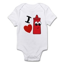 I Heart Ketchup Infant Bodysuit