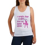 I train like a girl... try to Women's Tank Top