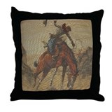 "TGY Western Style Throw Pillow ""Cowboy Horse&"