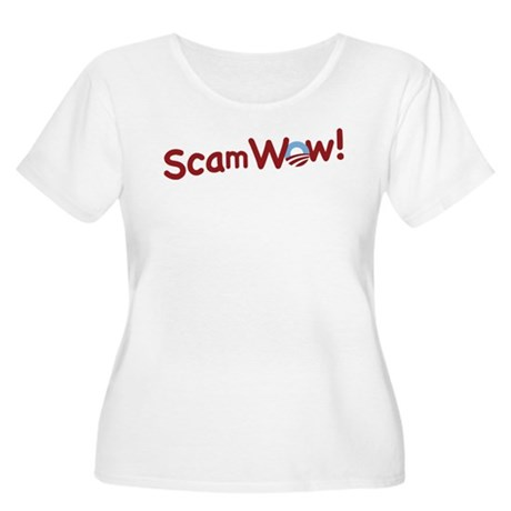 Obama ScamWow! Women's Plus Size Scoop Neck T-Shir
