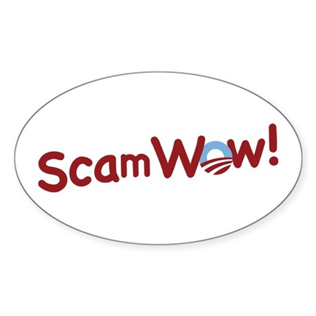 Obama ScamWow! Oval Sticker