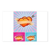 Tattoo Hearts Postcards (Package of 8)