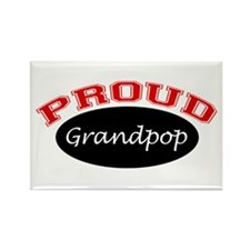 Proud Grandpop Rectangle Magnet