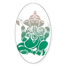 Ganesha Oval Decal