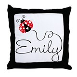 Ladybug Emily Throw Pillow