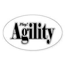 Play Agility Oval Decal