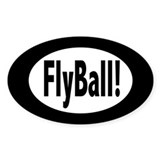 FlyBall! Oval Decal