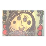 Kids Art: Pablo Picasso Quote Sticker (Rectangular