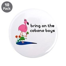 Bring on the cabana boys Flamingo Button (10 pack)