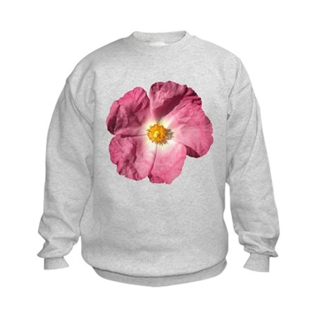 Pink Flower Kids Sweatshirt