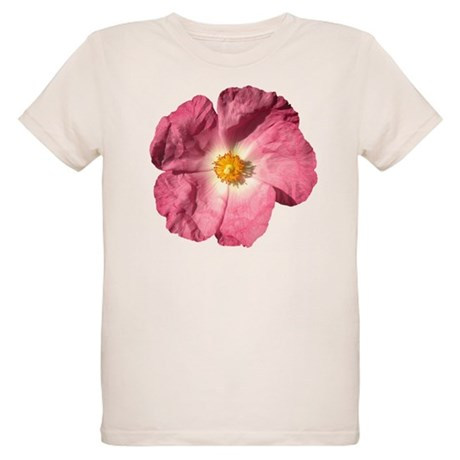 Pink Flower Organic Kids T-Shirt